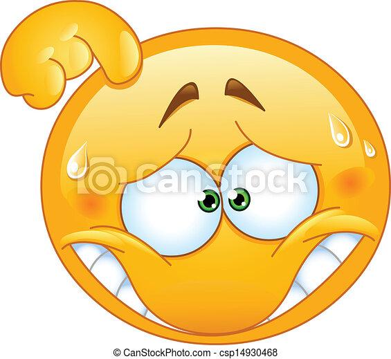 Emoticon avergonzado - csp14930468