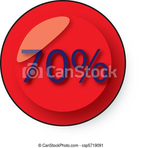 Botón de descuento - csp5719091