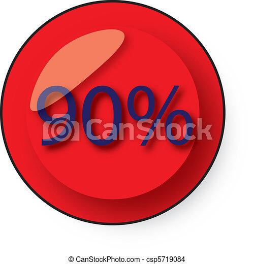 Botón de descuento - csp5719084
