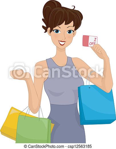 Descuento de compras - csp12563185