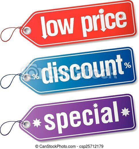 Etiquetas para ventas de descuento. - csp25712179