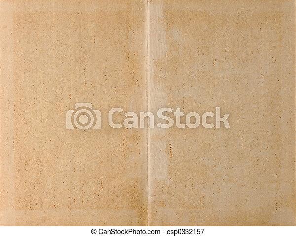 desdobrado, luz, papel, livro - csp0332157