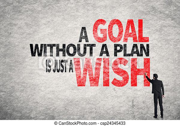 desejo, sem, meta, apenas, plano - csp24345433