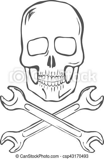 Desenhar Cranio Mao Vetorial Cruzado Chaves Desenhar Cranio