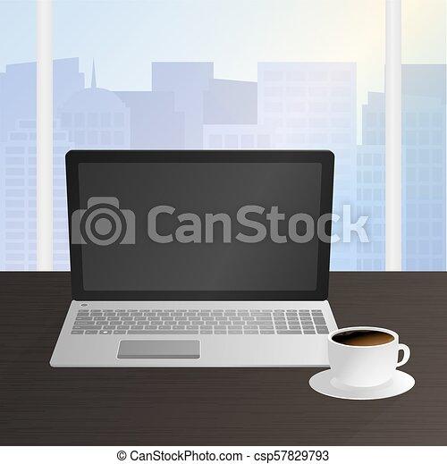 desenhista, local trabalho, trabalhador escritório - csp57829793