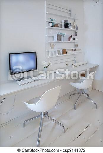 desenhista, lugar, trabalhando - csp9141372