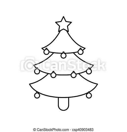 Desenho Arvore Natal Pinho Estacao Estacao Arvore Theme