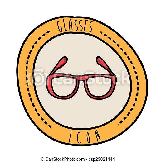 desenho, óculos - csp23021444