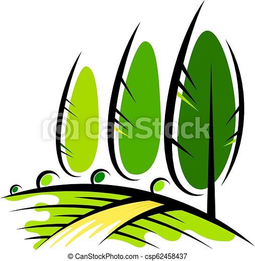 desenho, agricultura, paisagem - csp62458437