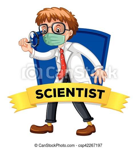 desenho cientista macho etiqueta macho cientista desenho
