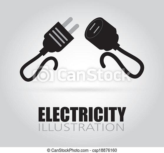 desenho, elétrico - csp18876160
