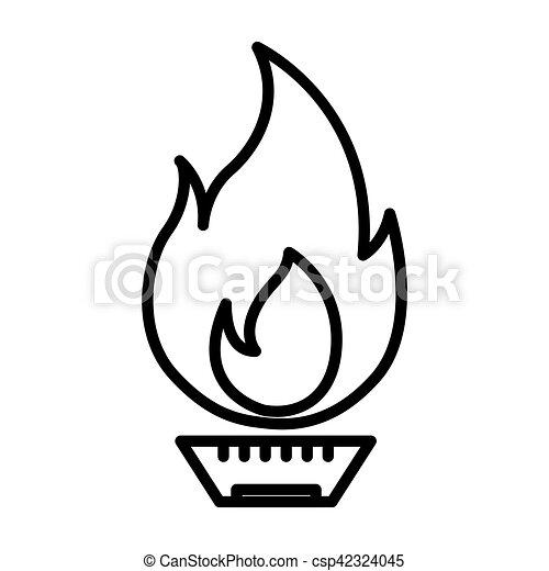 desenho, gás, natural, ilustração - csp42324045