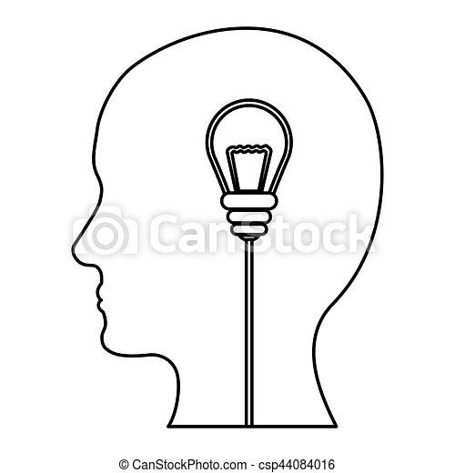 Desenho Imagem Silueta Ideias Pensamentos Silueta Imagem