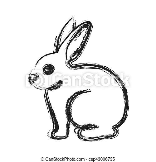 desenho isolado coelho caricatura cute vida coelho natureza
