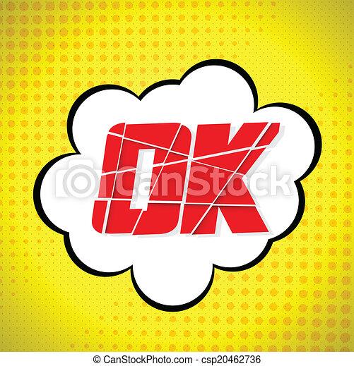 Desenho Mensagem Ok Style Pop Art Ok Style Vector