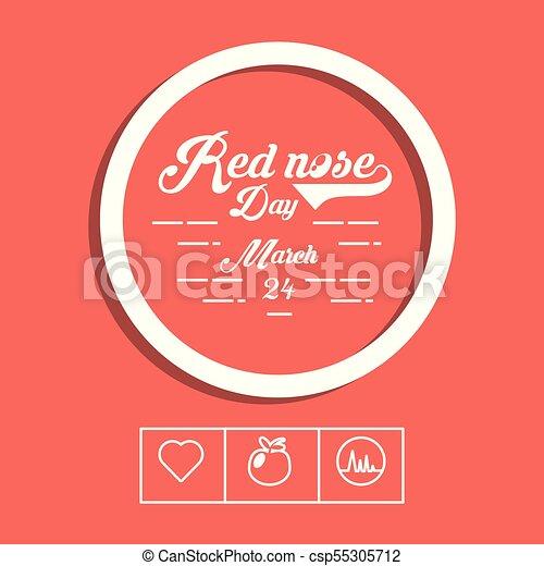 desenho, nariz, vermelho, dia - csp55305712