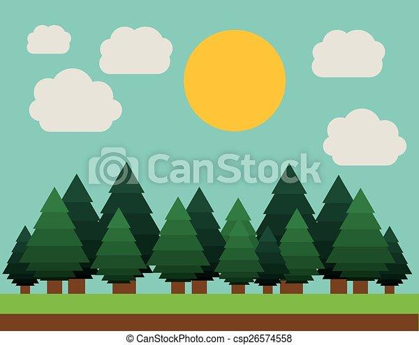 desenho, paisagem - csp26574558