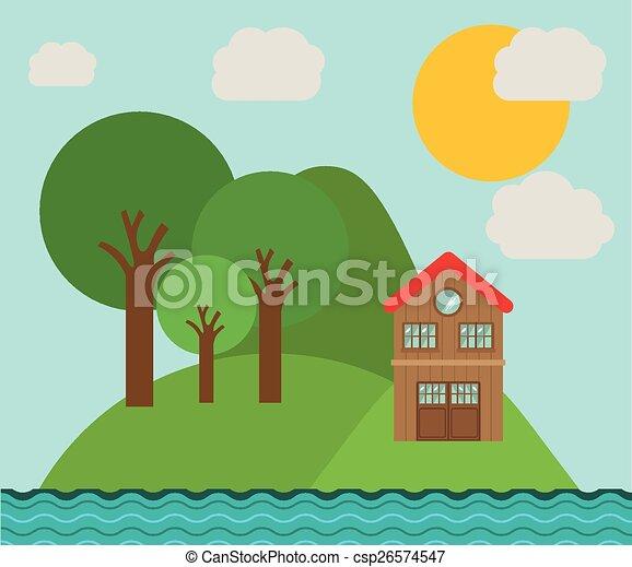 desenho, paisagem - csp26574547