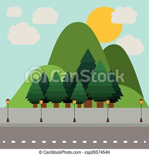 desenho, paisagem - csp26574549