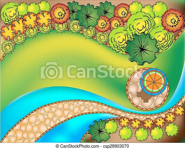 desenho, plano, paisagem - csp28903070