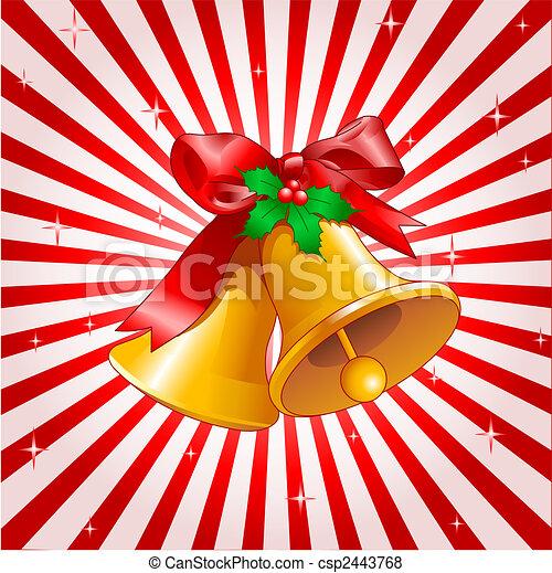 desenho sinos natal dourado dois vetorial fundo sinos natal