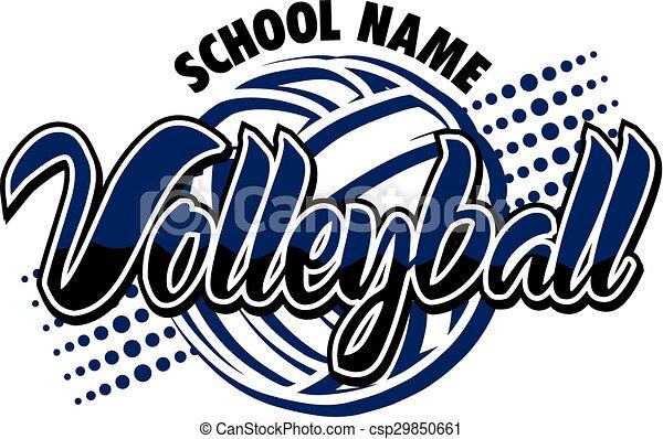 desenho, voleibol - csp29850661