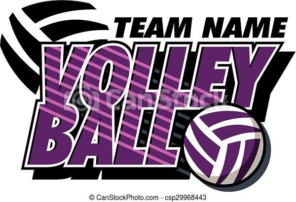 desenho, voleibol - csp29968443
