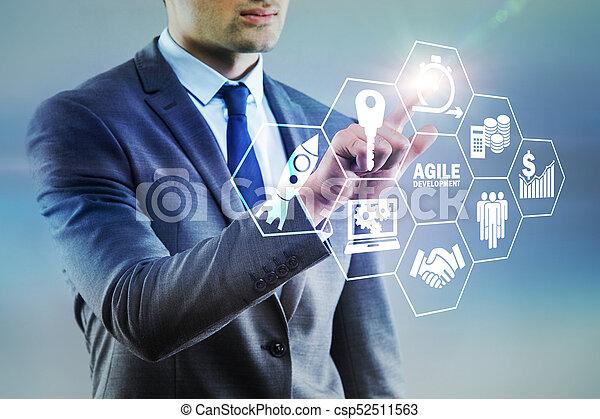 desenvolvimento, ágil, conceito, software - csp52511563