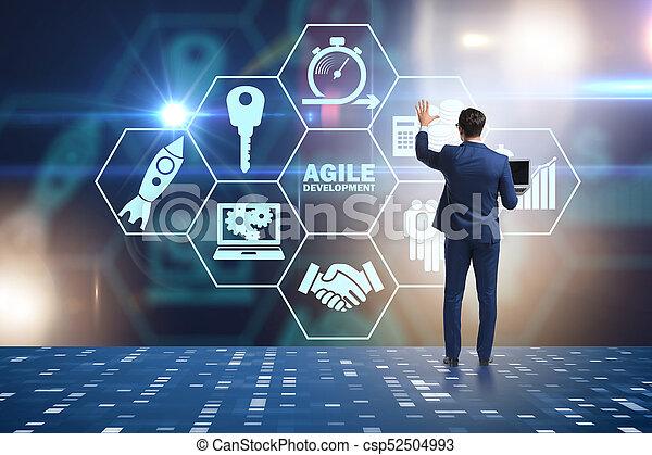 desenvolvimento, ágil, conceito, software - csp52504993