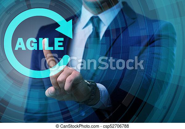 desenvolvimento, ágil, conceito, software - csp52706788