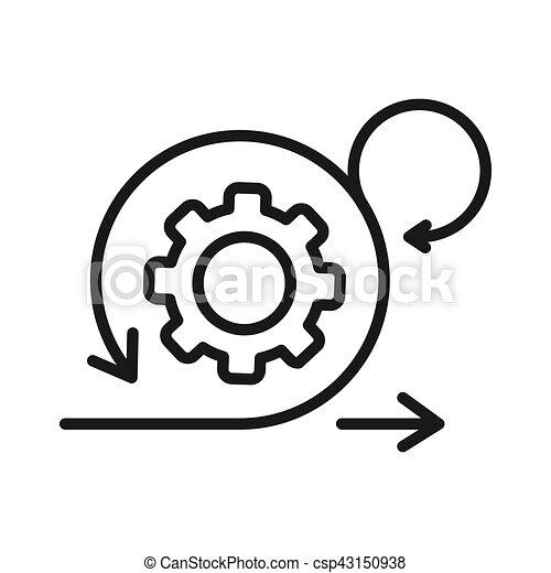 desenvolvimento, ágil, desenho, ilustração - csp43150938