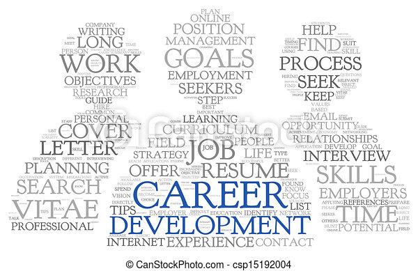 desenvolvimento, carreira, tag, palavra, nuvem - csp15192004
