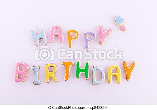 Feliz cumpleaños - csp8483580