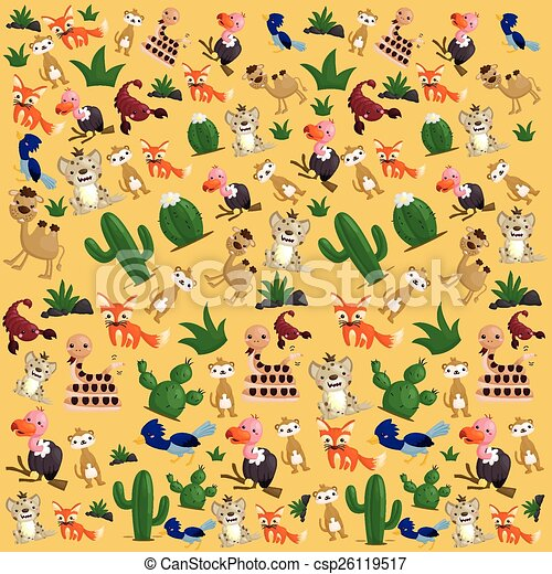 Desert Animal Background - csp26119517