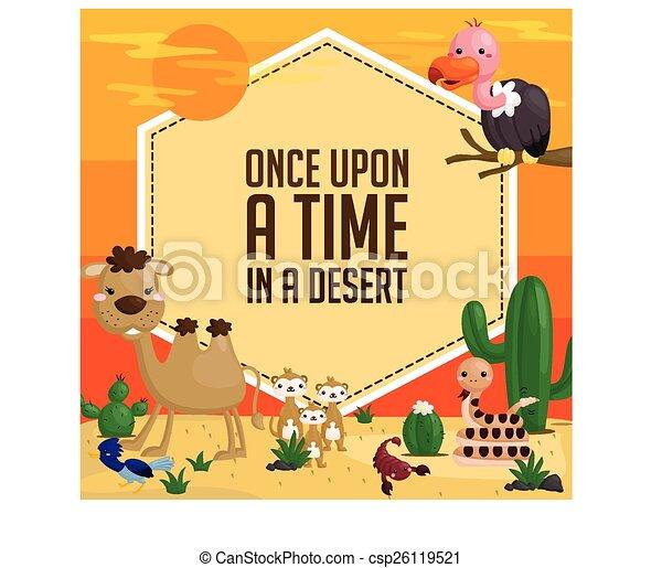 Desert Animal Card - csp26119521