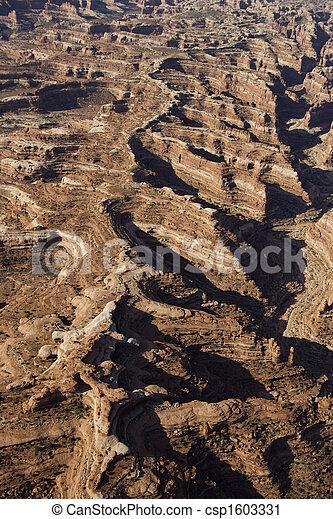 Desert canyon aerial. - csp1603331