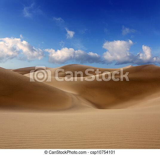Desert dunes sand in Maspalomas Gran Canaria - csp10754101