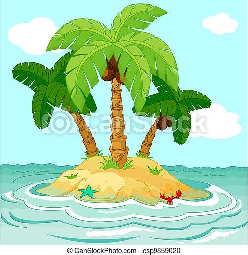 Desert island - csp9859020