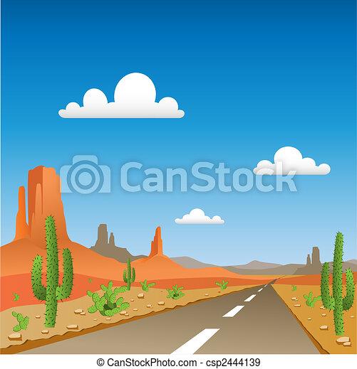 Desert Landscape - csp2444139