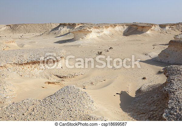 Desert landscape in Qatar, Middle East - csp18699587