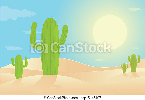 Desert Landscape - csp15145407