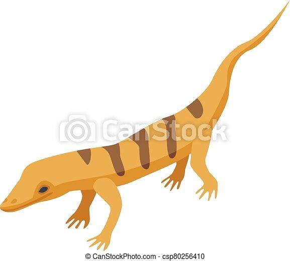 Desert lizard icon, isometric style - csp80256410