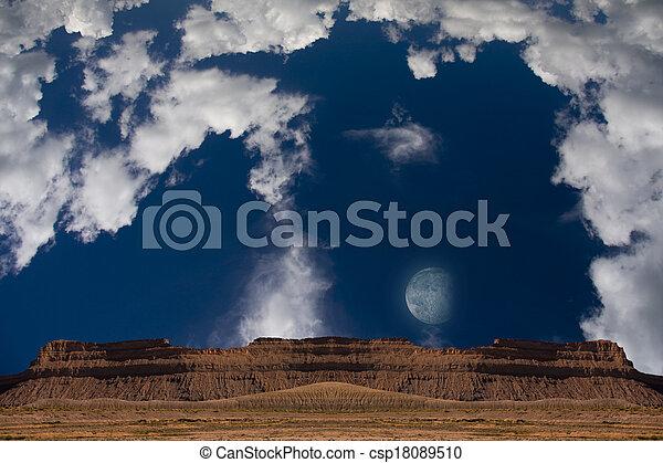 Desert Moon - csp18089510