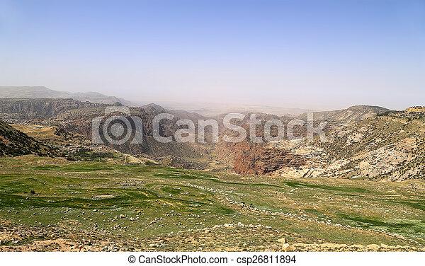 desert mountain landscape, Jordan, Middle East  - csp26811894