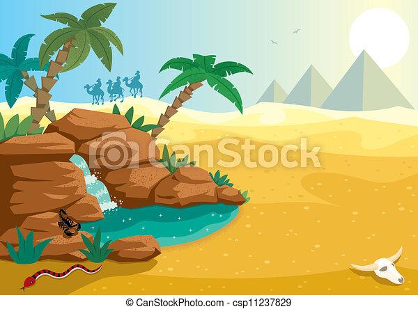 Desert Oasis - csp11237829