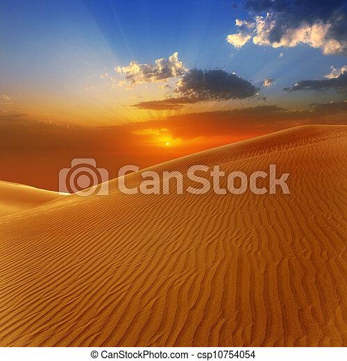 Desert sand dunes in Maspalomas Gran Canaria - csp10754054