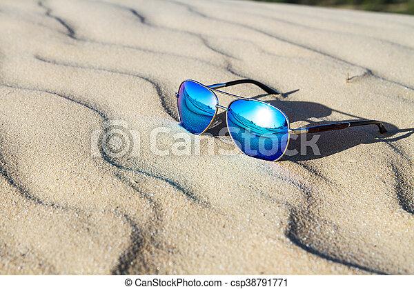 desert., sand, solglasögon