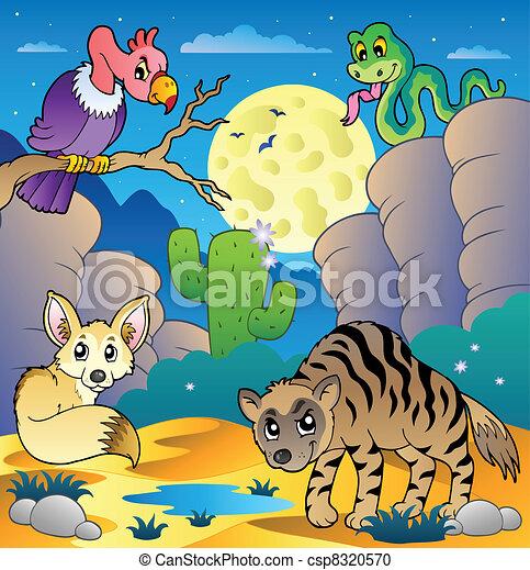 Desert scene with various animals 2 - csp8320570