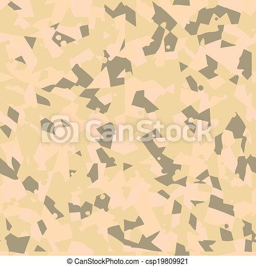 Desert Seamless Camouflage Pattern Vector