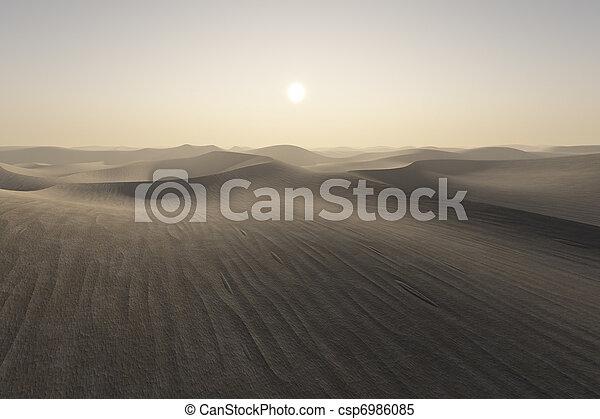 desert sunset - csp6986085